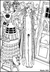 cybermen dalek doctor_who fishmen_of_carpantha fourth_doctor genderswap k-9 madoc rule_63 silurian tardis the_doctor