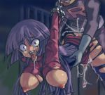 breasts chains cuffs cum gym_leader hanging_breasts huge_breasts long_hair lowres natsume_(pokemon) nipples npc_trainer pantyhose pokemon pokemon_(game) pokemon_frlg pokemon_hgss purple_hair rape red_eyes sabrina team_rocket team_rocket_grunt tears tongue tongue_out torn_clothes wide_eyed