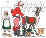 bestiality christmas deer mrs._claus prancer reindeer santa_claus